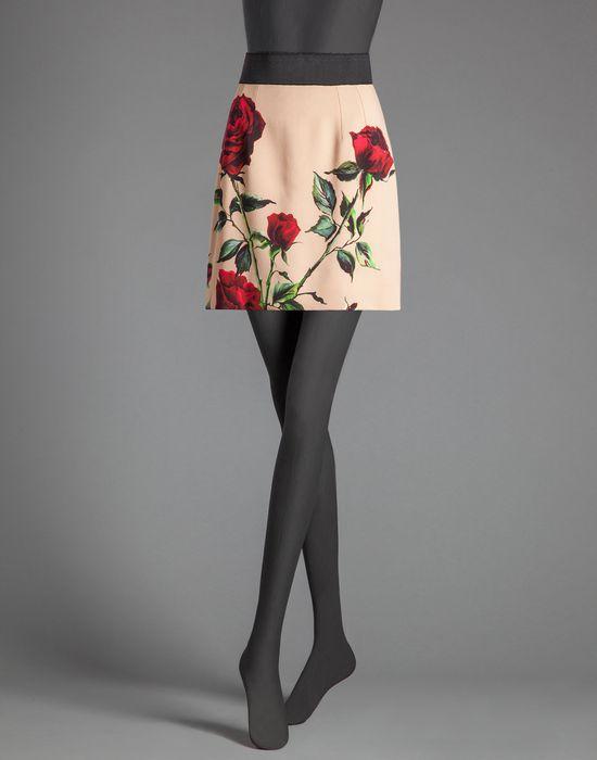 ROSE PRINT CADY MINI PENCIL SKIRT  - Mini skirts - Dolce&Gabbana - Winter 2015