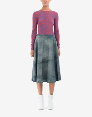 Mm6 By Maison Margiela Skirt Blue