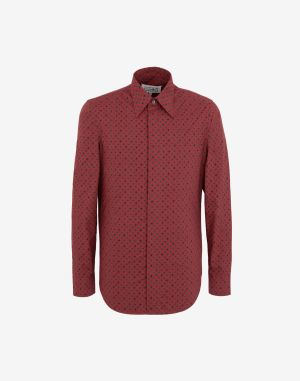 Maison Margiela Long Sleeve Shirt Red Cotton