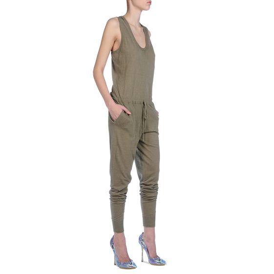 Stella McCartney Fine Knit All in One onesie in khaki