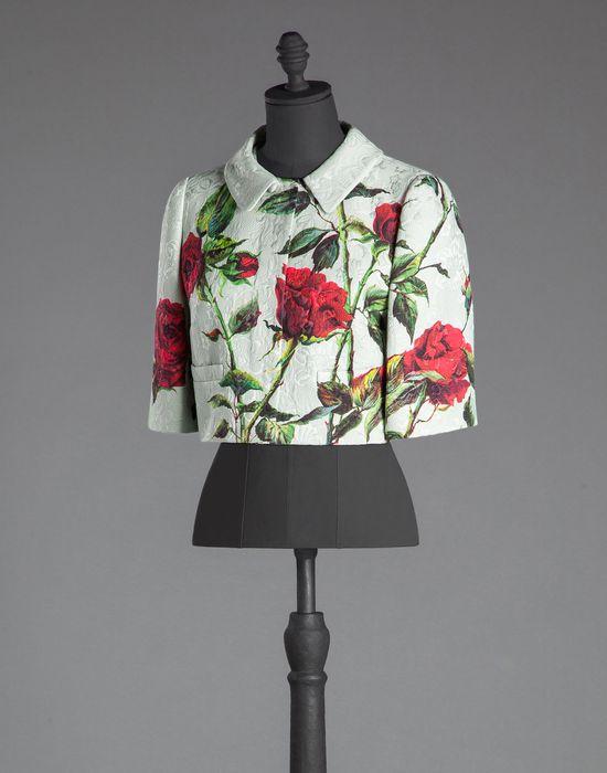 SHORT ROSE PRINT BROCADE BLAZER - Women's suits - Dolce&Gabbana - Winter 2015