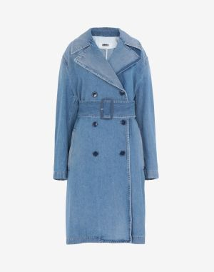 Mm6 By Maison Margiela Coats And Trenches Blue Cotton