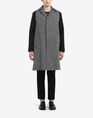 Maison Margiela Coats And Trenches Steel Grey