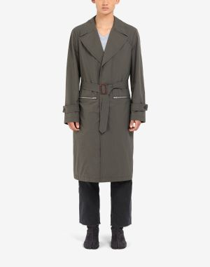 Maison Margiela Coats And Trenches Military Green