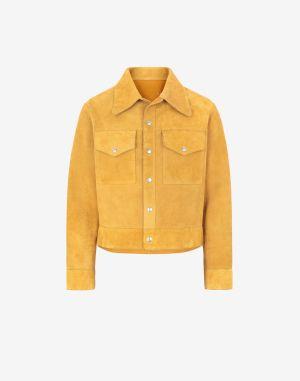Maison Margiela Leather Jacket Ochre Bovine Leather