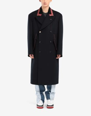 Maison Margiela Coats And Trenches Dark Blue