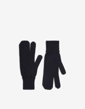 Maison Margiela Gloves Dark Blue Wool, Cashmere