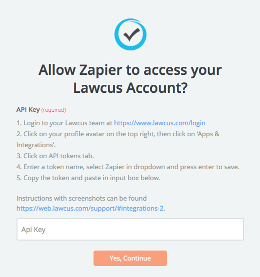 Lawcus API Key