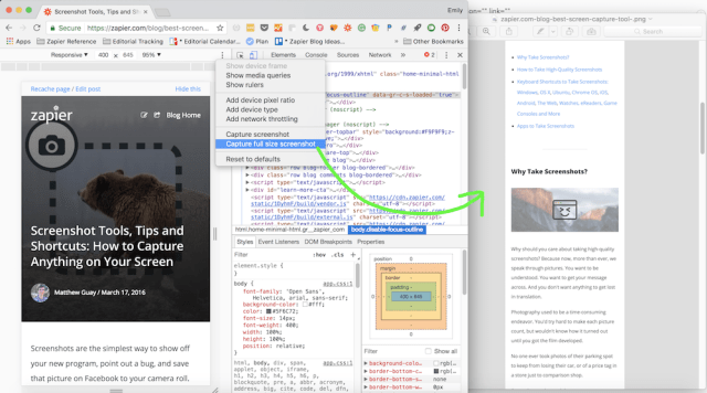 Full Page Screenshots in Chrome