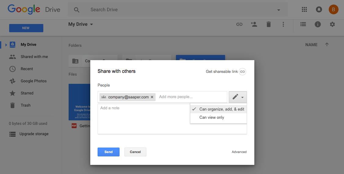 Share Google Drive Folder