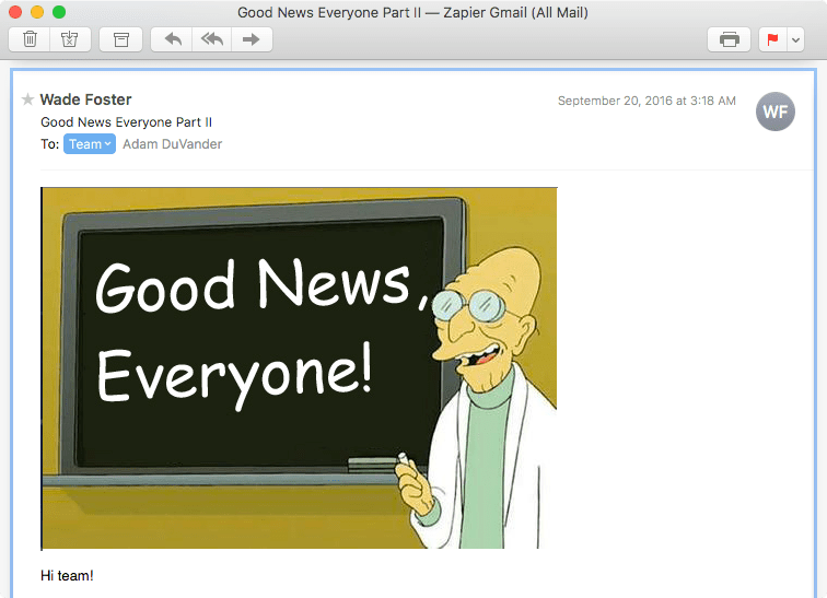 Google Groups Team Email