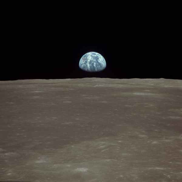 Rare photos of the Moon, as the Apollo astronauts witnessed it