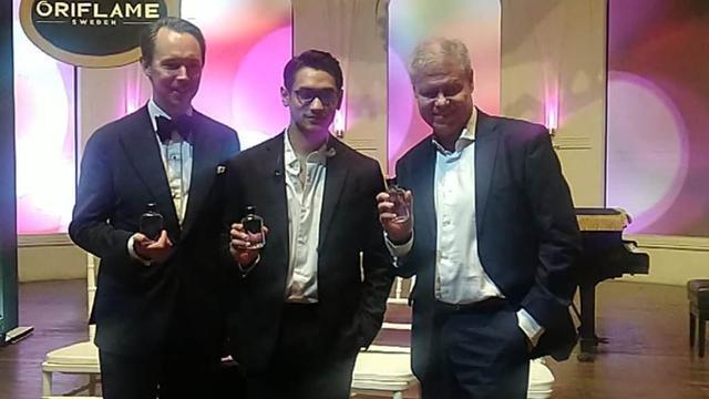 Afgan Saat Peluncuran Eclat Style Parfum dari Oriflame di Jakarta, 18 Februari 2020
