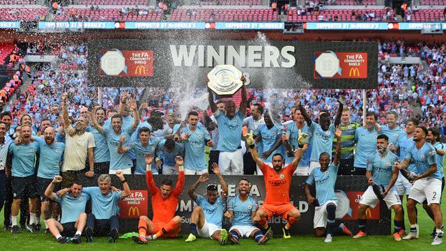 FOTO: Permalukan Chelsea, Manchester City Raih Gelar Perdana