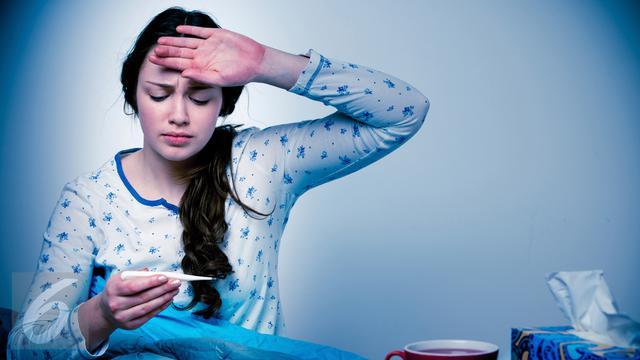 Ilustrasi Sakit Flu dan Demam