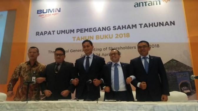 RUPST 2018 PT Aneka Tambang Tbk pada Rabu (24/4/2019) (Foto: Merdeka.com/Anggun P.Situmorang)