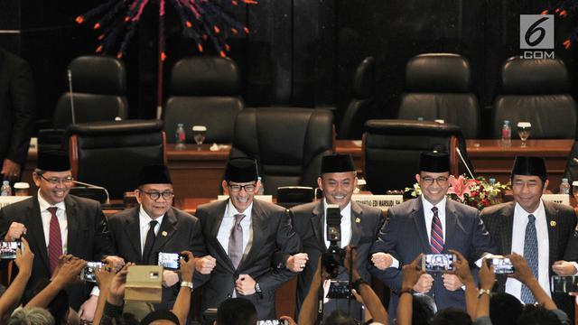 Sandiaga Uno Mengundurkan Diri di Hadapan DPRD DKI Jakarta