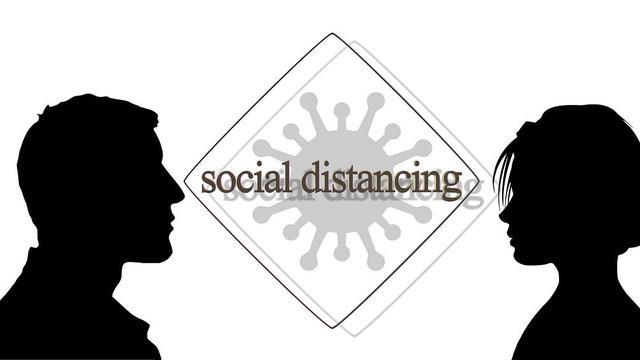 Ilustrasi Social Distancing