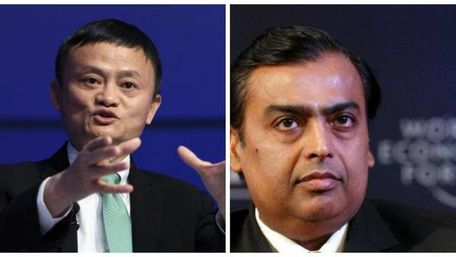 Jack Ma dan Mukesh Ambani. Dok