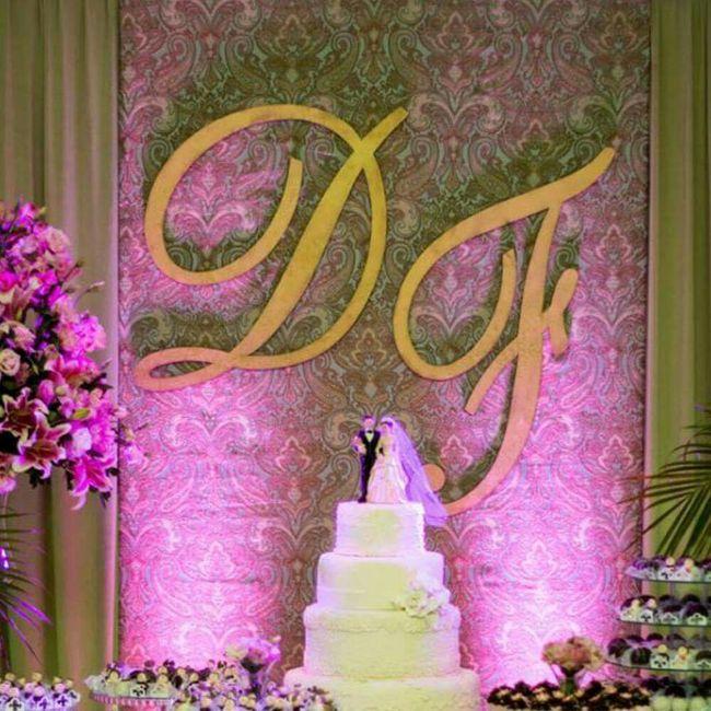 Casamento Mesa Fundo Bolo Da De Decoracao Do