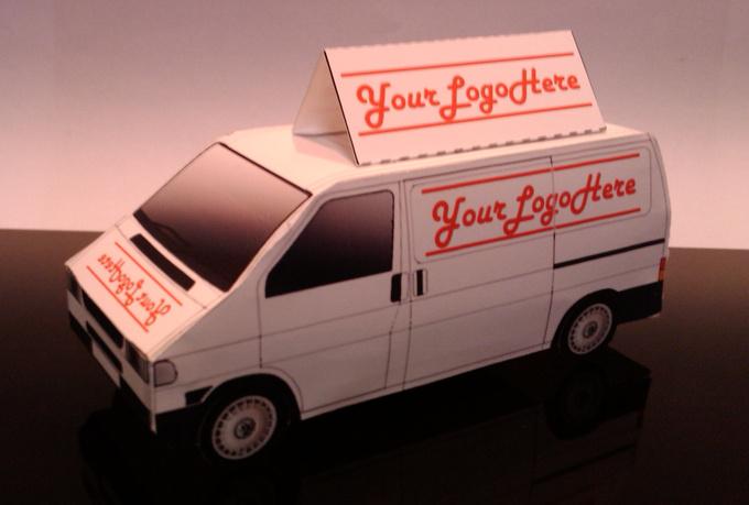 papercraft-delivery van-papertrucklogo