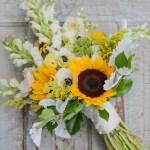 22 Stunning Sunflower Wedding Bouquet Ideas