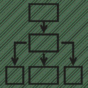 Chart, diagram, flow chart, process chart icon