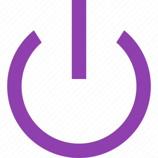 Action, open, power, shutdown icon