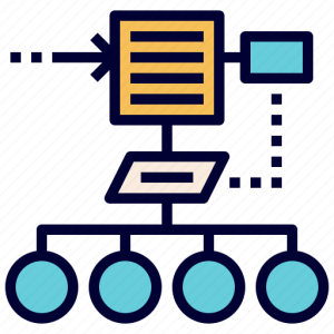 Algorithm, chart, flow, plan, process icon