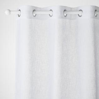 voilage blanc effet lin caraz 140x240 cm