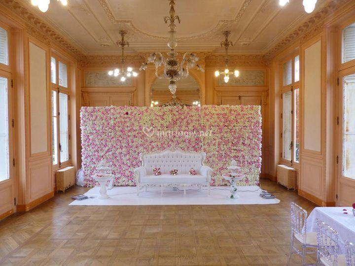 Deco Mur Mariage Finest Tenture De Salle De Mtres With