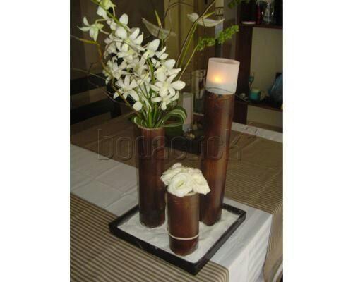 De De Para Mesa Bambu Centros Boda