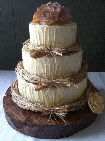 Wedding Cake In Base Allo Stile Country Ricevimento Di