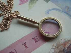 steampunk magnifying glass necklace quirky and a little bit sherlock holmes or nancy drew