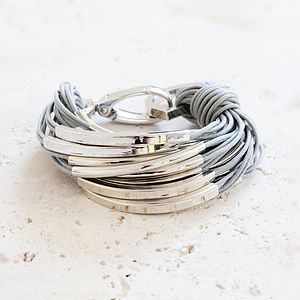 Katia Silver And Thread Bracelet