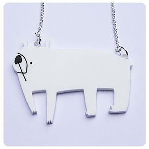 Acrylic Polar Bear Necklace