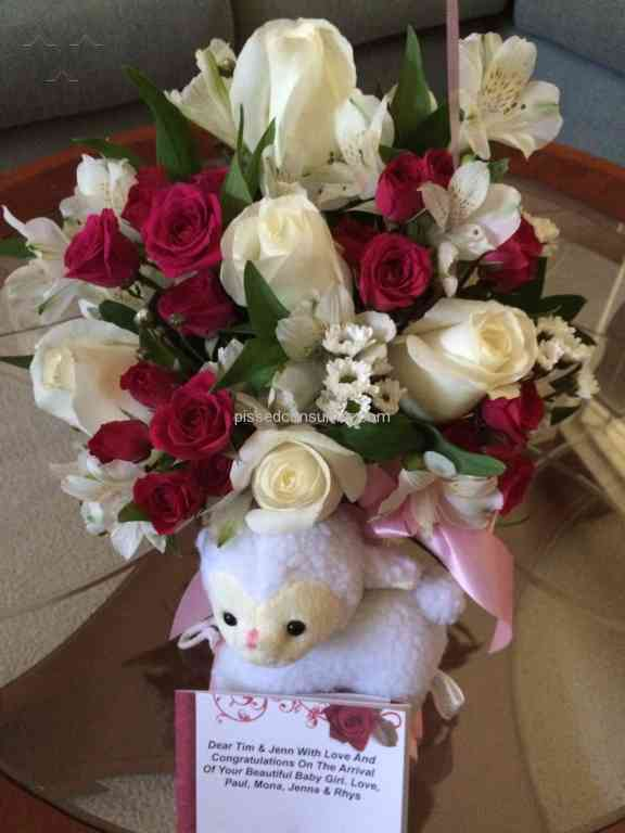 Teleflora Sweet Little Lamb Baby Pink Bouquet Review From London London Jul 31 2016 Pissed