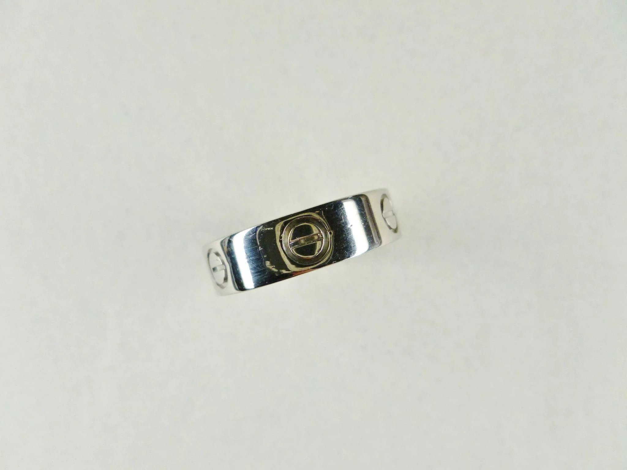 Vintage Cartier Love 18k White Gold Band Size 55 Chelsea