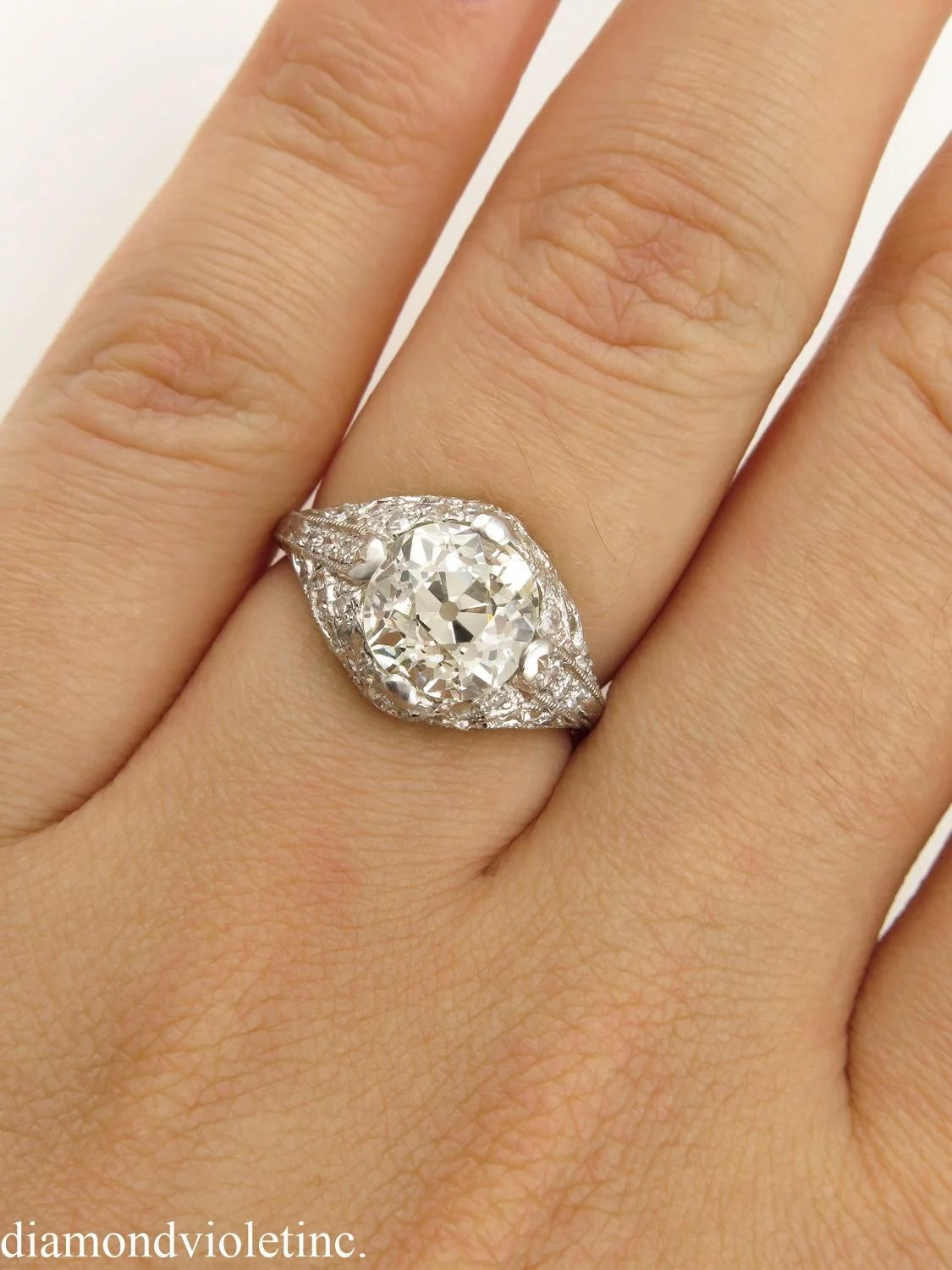 Edwardian 237ct Old Mine Diamond Solitaire Engagement