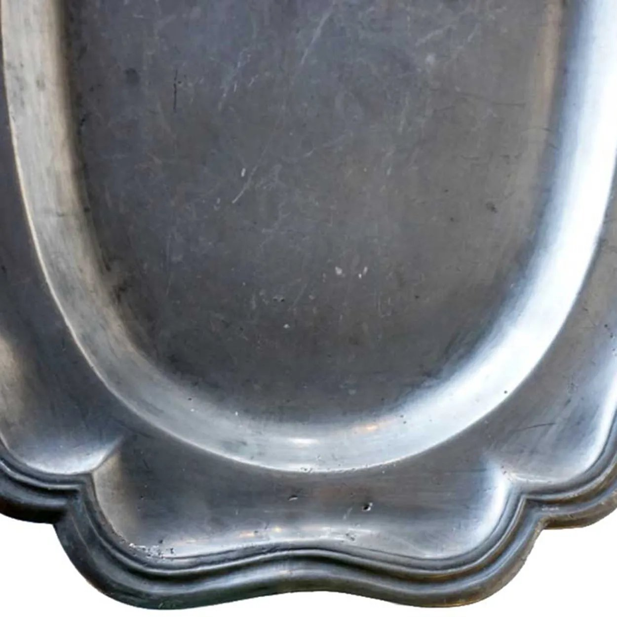 French Pewter Oval Fish Platter Eron Johnson Antiques