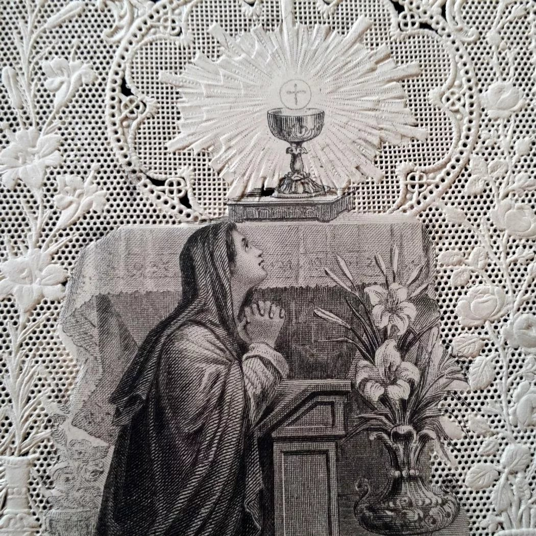 Antique Lace Holy Card Act Of Contrition The Vintage