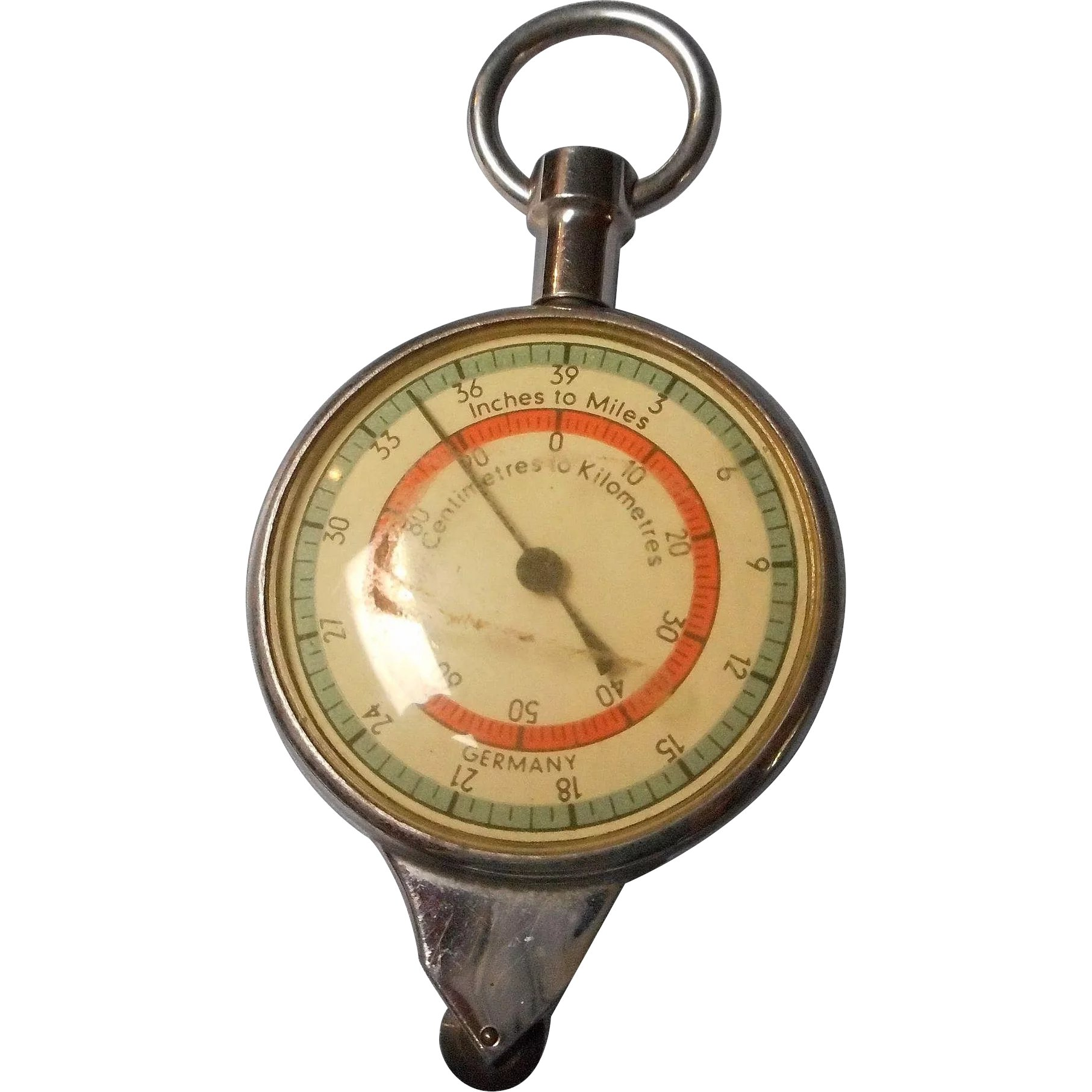 Vintage Opisometer Map Measure Tool And Compass Germany