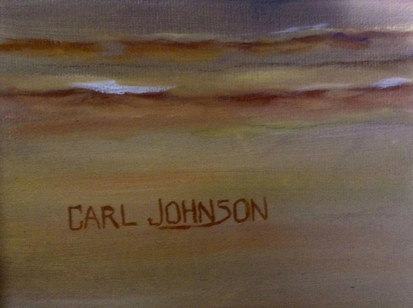 Carl Johnson Beautiful Oil Painting Two Swans at Sunset ...