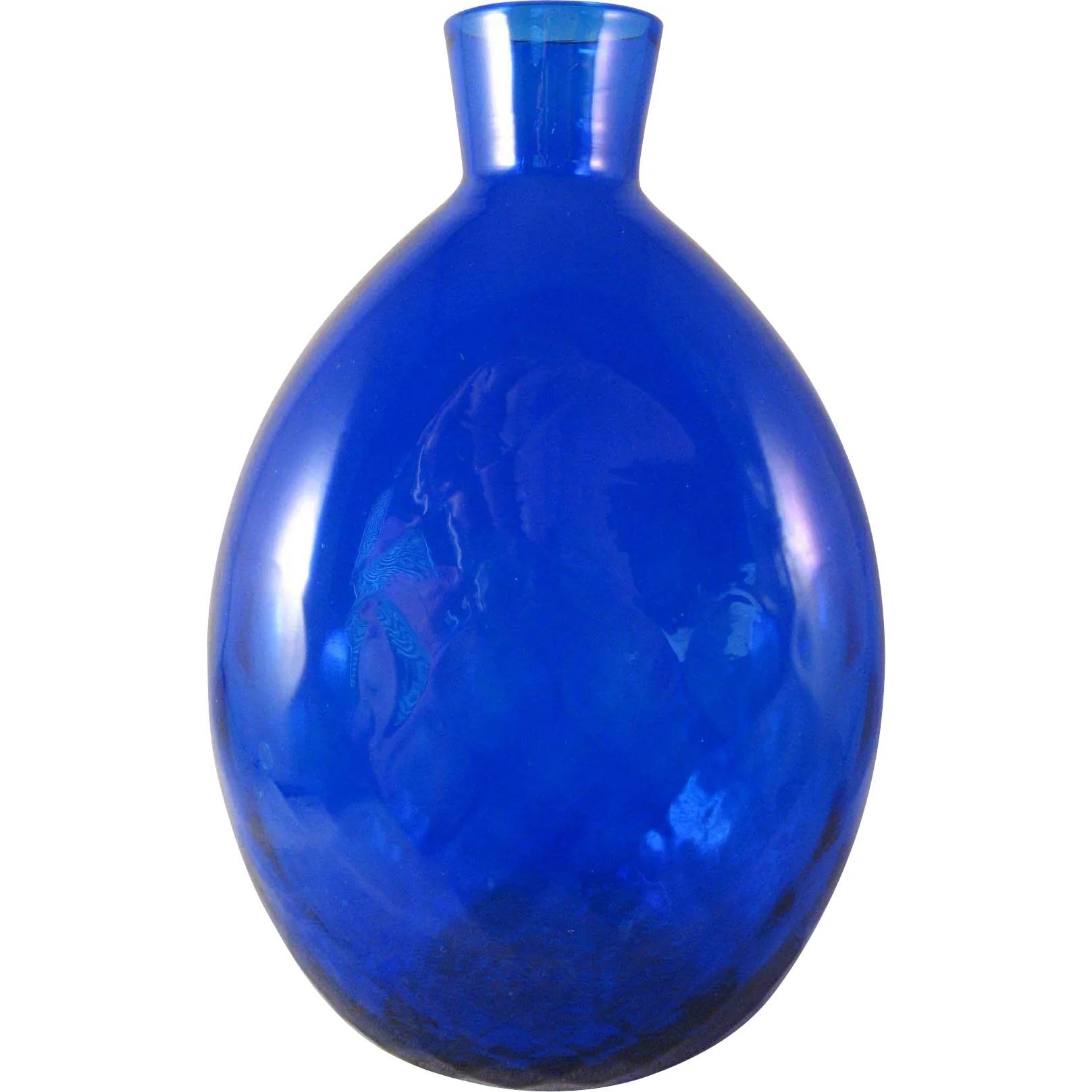 Vintage Pairpoint Cobalt Blue 34 Lead Crystal Round
