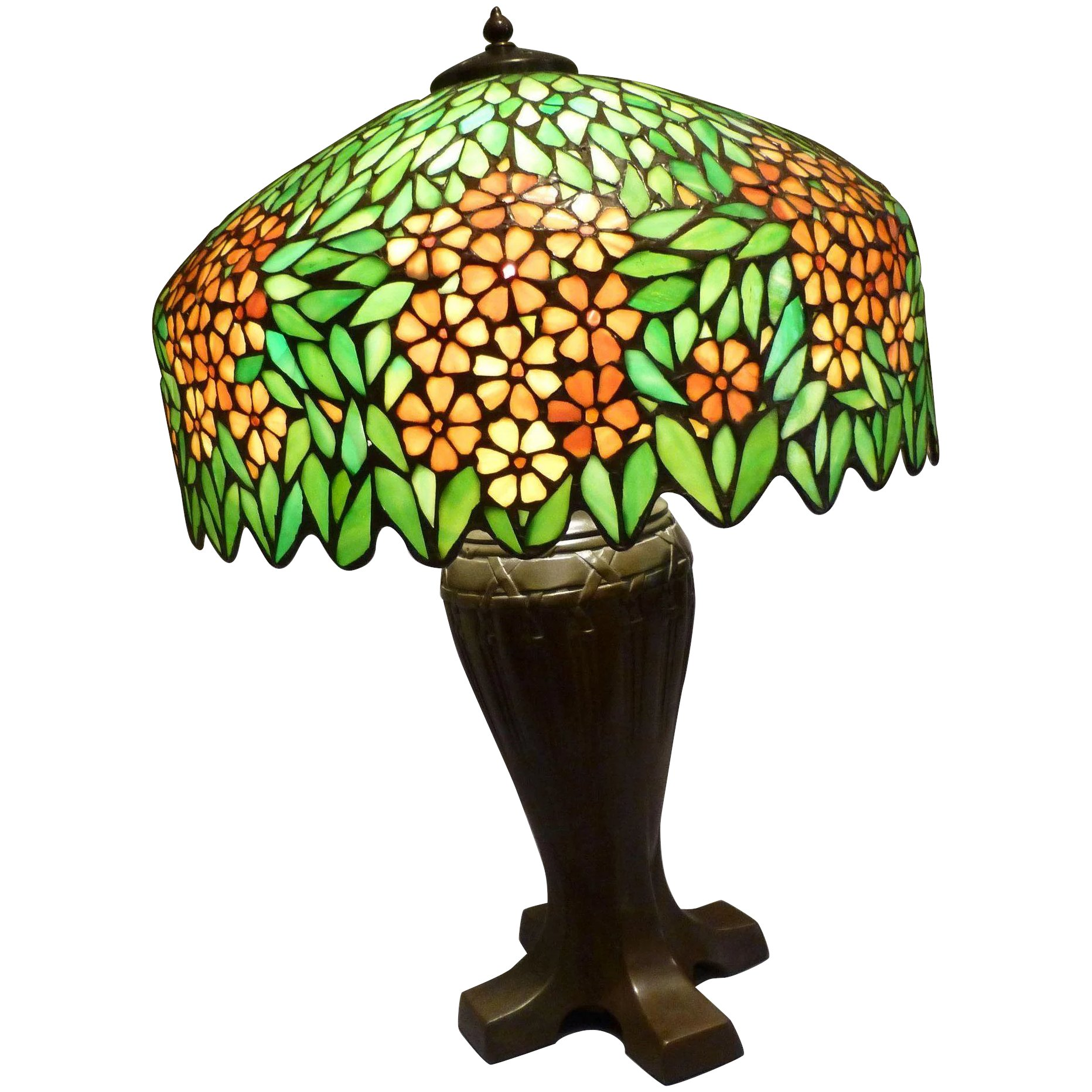 Handel Leaded And Stained Glass Table Lamp Circa Early 20th C Mm Antiques Long Island Ruby Lane