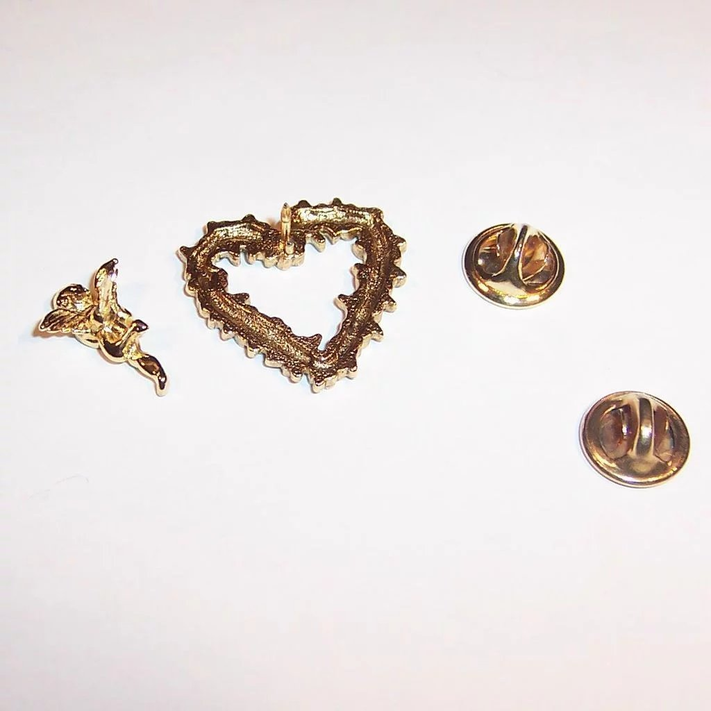 Valentines Day Heart Cupid Scatter Pins Ruths