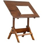 Drafting Table Or Adjustable Vintage Artist Desk Kitchen Island Wine Harp Gallery Antique Furniture Ruby Lane