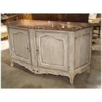 Large Painted Antique Buffet With Marble Top Provence Late 19th Le Louvre French Antiques Ruby Lane