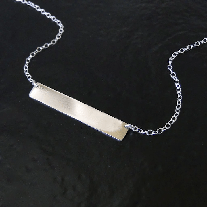 Sterling Silver Nameplate Necklace As Seen On Kim Kardashian Can Be Engraved