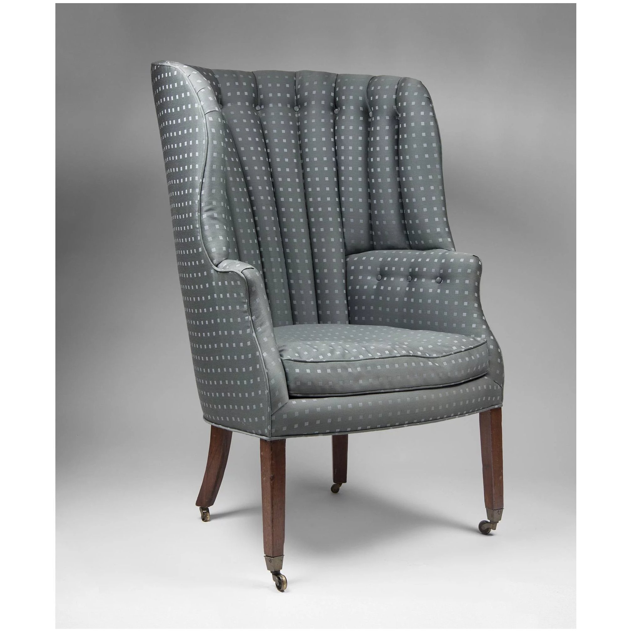 19th C English Georgian Barrel Back Library Wing Chair Pia S Antique Gallery Ruby Lane